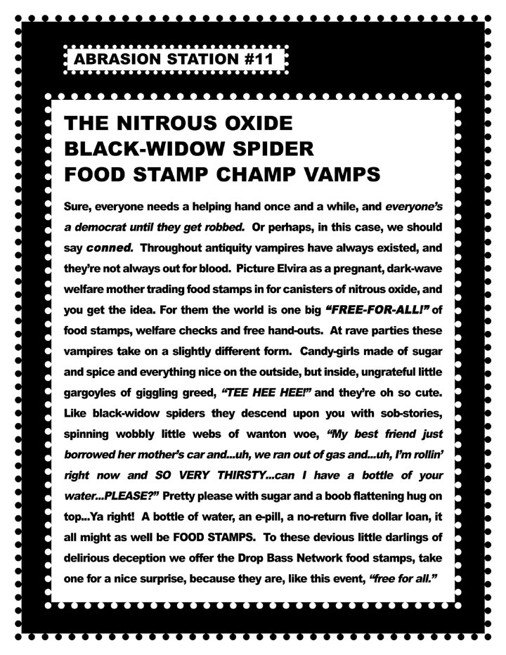 13 The Nitrous Oxide Black Widow Spider Food Stamp Champ Vamps